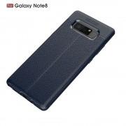 Galaxy Note 8 cover tpu sting læder mørkeblå Mobilcover