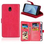 Galaxy J5 2017 cover med multi lommer rød Mobilcovers