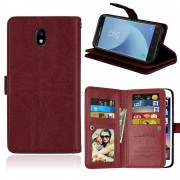 Galaxy J5 2017 cover med multi lommer brun Mobilcovers