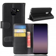 Læder cover Galaxy A8 2018 Mobilcovers