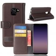 Læder cover brun Galaxy A8 2018 Mobilcovers