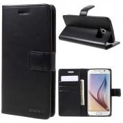 sort Flip etui Samsung S6 Mobil tilbehør