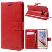 rød Flip etui Samsung S6 Mobil tilbehør
