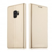 Slim flip cover guld Galaxy S9 Mobilcovers
