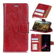 Klassisk læder flipcover rød Galaxy S9 plus Mobilcovers