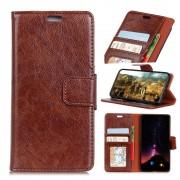 Klassisk læder flipcover brun Galaxy S9 plus Mobilcovers