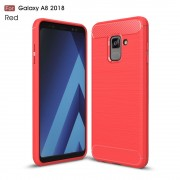C-style armor cover rød Galaxy A8 2018 Mobilcovers