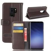 Flip cover ægte læder brun Galaxy S9 plus Mobilcovers