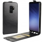Vertikal flip cover sort Galaxy S9 plus Mobilcovers