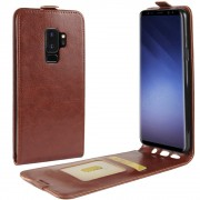 Vertikal flip cover brun Galaxy S9 plus Mobilcovers
