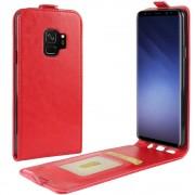 Vertikal flip cover rød Galaxy S9 Mobilcovers