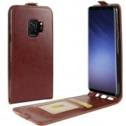 Vertikal flip cover brun Galaxy S9 Mobilcovers