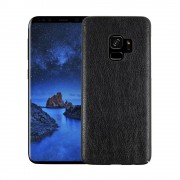 Stilfuld læder cover case sort Galaxy S9 Mobilcovers