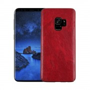 Stilfuld læder cover case rød Galaxy S9 Mobilcovers