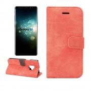 Flip cover retro rød Galaxy S9 Mobil tilbehør