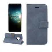 Flip cover retro blå Galaxy S9 Mobil tilbehør