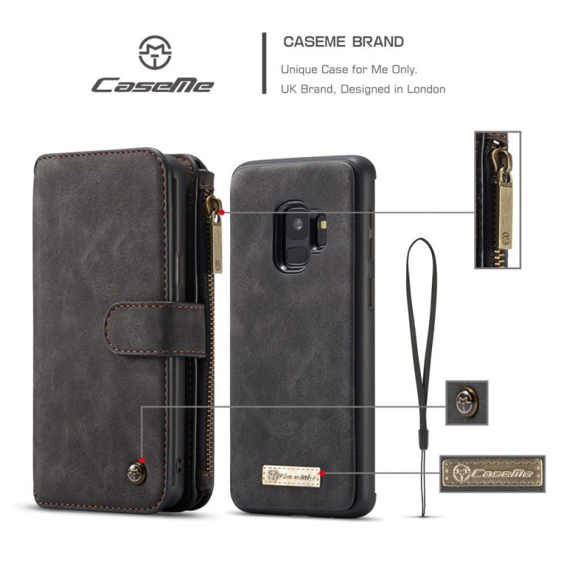 ad023fd76e1 ... 2 i 1 cover multi vintage sort Galaxy S9 Mobilcovers ...