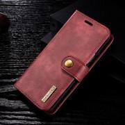 2 i 1 cover ægte læder rød Galaxy S9 Mobilcovers
