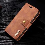 2 i 1 cover ægte læder brun Galaxy S9 Mobilcovers