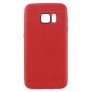 SAMSUNG GALAXY S7 dot bag cover rød Mobiltelefon tilbehør