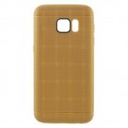 SAMSUNG GALAXY S7 dot bag cover guld Mobiltelefon tilbehør