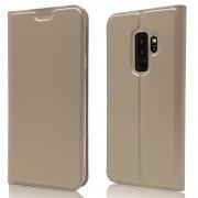 Slim flip cover guld Galaxy S9 plus Mobil tilbehør
