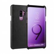 Læder hard case cover sort Galaxy S9 plus Mobilcover