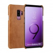 Læder hard case cover brun Galaxy S9 plus Mobilcover