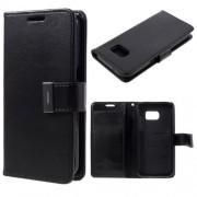 SAMSUNG GALAXY S7 pung læder cover sort, Mobiltelefon tilbehør