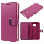SAMSUNG GALAXY S7 pung læder cover rosa, Mobiltelefon tilbehør
