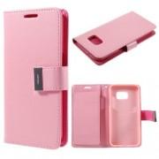 SAMSUNG GALAXY S7 pung læder cover pink, Mobiltelefon tilbehør