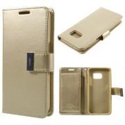 SAMSUNG GALAXY S7 pung læder cover champagne, Mobiltelefon tilbehør