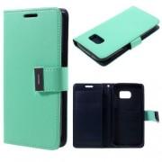 SAMSUNG GALAXY S7 pung læder cover cyan, Mobiltelefon tilbehør