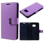 SAMSUNG GALAXY S7 pung læder cover lilla, Mobiltelefon tilbehør