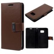 SAMSUNG GALAXY S7 pung læder cover brun, Mobiltelefon tilbehør