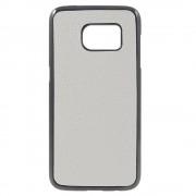 Til SAMSUNG GALAXY S7 bag cover i split læder, hvid Mobiltelefon tilbehør