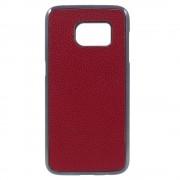 SAMSUNG GALAXY S7 bag cover i split læder, rød Mobiltelefon tilbehør
