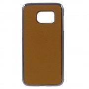SAMSUNG GALAXY S7 bag cover i split læder, brun Mobiltelefon tilbehør