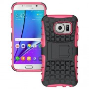 SAMSUNG GALAXY S7 hybrid bag cover, rosa Mobiltelefon tilbehør