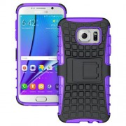 SAMSUNG GALAXY S7 EDGE hybrid bag cover, lilla Mobiltelefon tilbehør
