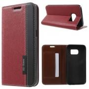 SAMSUNG GALAXY S7 fashion læder cover rød , Mobiltelefon tilbehør