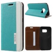 SAMSUNG GALAXY S7 fashion læder cover blå, Mobiltelefon tilbehør