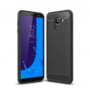 C-style armor cover sort Galaxy J6 (2018) Mobil tilbehør