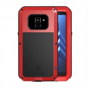 Dropproof shockproof cover rød Galaxy A8 (2018) Mobil tilbehør