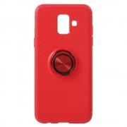 Galaxy A6 (2018) rød cover med ring holder Mobil tilbehør