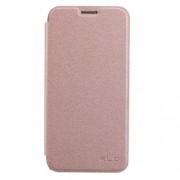 SAMSUNG GALAXY S7 EDGE læder cover, rosa Mobiltelefon tilbehør