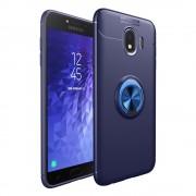 blå Cover med ring holder Galaxy J4 (2018) Mobil tilbehør