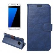 SAMSUNG GALAXY S7 EDGE vintage læder cover blå, Mobiltelefon tilbehør