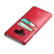 Galaxy Note 9 cover case med kortholder rød Mobil tilbehør