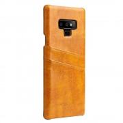 Galaxy Note 9 cover case med kortholder brun Mobil tilbehør